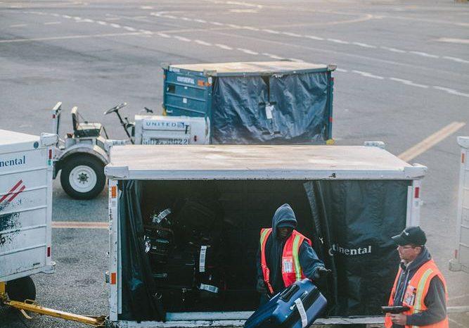 Säkra vagnen inför flyget